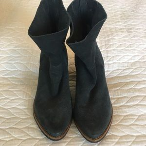 Matisse Blue Leather Booties